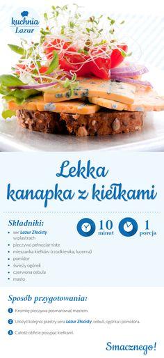 Kanapka z kiełkami /kanapki /kiełki /ser /Lazur /ser pleśniowy /rokpol /przepisy /kuchnia lazur