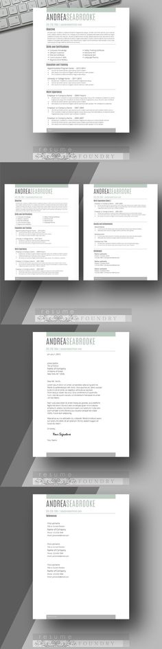 Modern Male Resume Template Cover Letter Two Page Use with - eye catching resume templates