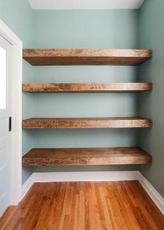 DIY Floating Wood Shelves! by montse.esquivel.779     Basement wall to replace bookshelf???????