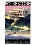 Folkestone Southern Railway on VintageRailPosters.co.uk Prints #Vintage #Rail #Train #Poster #Print #Art #Vintage #Old #Classic #British #Britain #UK #Travel #Railway #Posters #Gifts #Products #Merchandise #England #Present #Kent #Garden