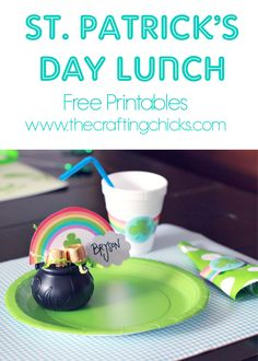 St Patrick's Day Lunch Printables - These free printables would make such a fun (and easy) lunch for the kiddos!