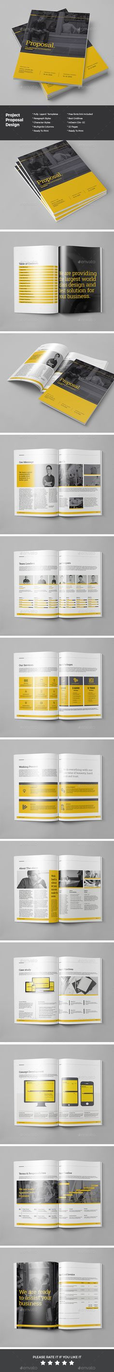 Proposal Template InDesign INDD #design Download: http://graphicriver.net/item/proposal/14419205?ref=ksioks