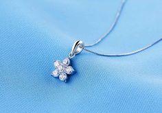 Mặt dây chuyền bạc Sweet Love Flowers2