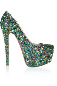 Christian Louboutin Daffodile 160 crystal-embellished leather pumps | THE OUTNET