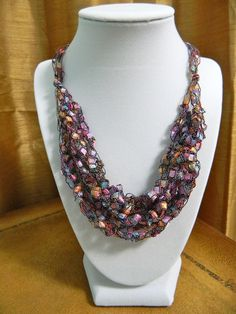 This #handmade #ribbon #necklace #accessory is called the Pink Sherbet! My favorite one! To view more colors, click on the image.