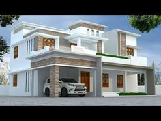 home energy saving advice service House Front Wall Design, House Roof Design, House Outside Design, Flat Roof House, House Design Photos, Modern House Design, Indian House Exterior Design, Kerala House Design, Duplex Design