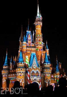 Cinderella's castle turned into a gingerbread house. Great photo from Epbot!
