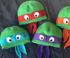 Before you head out into the streets to fight crime or hit on nubile news reporters, make sure you're bundled up with the Ninja Turtle hats. Each hand-knit yarn beanie turns the top of your noggin into your favorite hero in a half shell complete the signature colors.