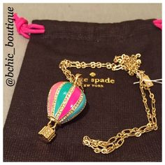 "Kate Spade Long necklace Brand new Kate Spade hot air ballon long necklace. The total length is 18"" kate spade Jewelry Necklaces"