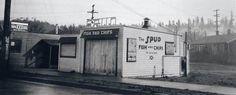 Alki History & Cultural tour _ we visit Seattle's oldest fast food restaurant Spud Fish & Chips Seattle Washington, Washington State, West Seattle, Enlarge Photos, Tours, Fish, History, Antiques, Beach
