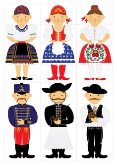 Diy And Crafts, Crafts For Kids, Arts And Crafts, Hungarian Embroidery, Folk Dance, Pre School, Preschool Activities, Puppets, Paper Dolls