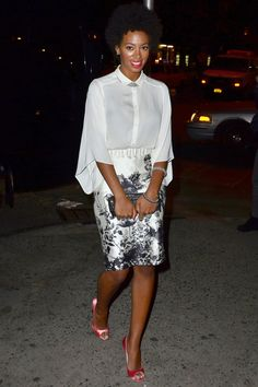 Solange, the Print-Mixing Queen - The Cut