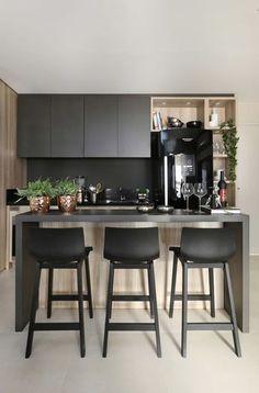 Decoração moderna da cozinha. | Modern kitchen decor.