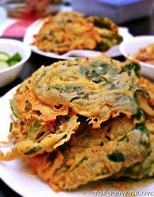 To Food with Love: Chickpea-battered Spinach