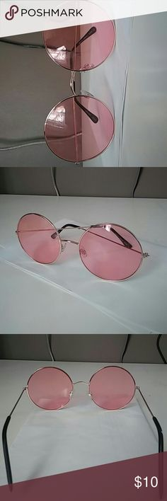 Circular pink retro sunglasses Brand new Round lenses Gold rims Rose pink tinted lens Forever 21 Accessories Sunglasses