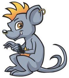 Perseus é o Rato de estimação de Deuce Gorgon.  Descrição física Perseus é um rato cinzento, barrigudo com uma moicano laranja e estômago, um brinco em uma de suas orelhas, olhos castanhos e duas caudas.