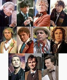 Doesn't it bother you when folks think that 10 is the first doctor and Doctor Who is a new series? THERE WERE 40 YEARS OF DOCTOR WHO BEFORE TENNANT! Here's a pic of all of the regenerations...anyone remember them?