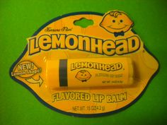 Lemonhead flavored lip balm