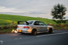 Subie flames @Guthrie Dolin Johnson