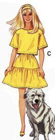 Top and Skirt pattern for Barbie