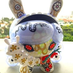 """""""Violet Soda Lady"""" - Berry Dunny by Junko Mizuno - Robots For Kids, Toy R, Top Toys, Designer Toys, Graffiti Art, Soda, Fashion Backpack, Berry, Pop Art"""