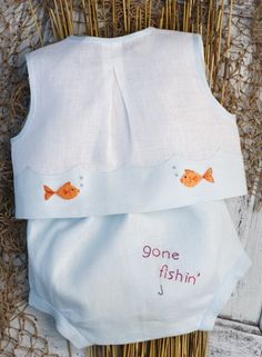 Gone Fishin' Diaper Shirt and Pants