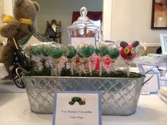 Very Hungry Caterpillar Cake Pops - by MomsKillerCakes - Book themed baby shower