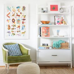 Looking for some artwork to dress up your little ones' rooms? Framebridge has partnered with Penguin Young Readers for a collaboration that turns our favorite childhood books into chic wall decor. For more news, head to Domino. Baby Playroom, Baby Room Decor, Playroom Ideas, Ikea Playroom, Playroom Furniture, Playroom Organization, Kids Artwork, Room Posters, Pottery Barn Kids