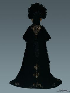 Star Wars Padme Amidala Black Feather Dress - Back view