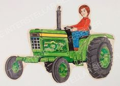 Rare! ORIGINAL 1970's SUNSHINE FAMILY FARM TRACTOR CONCEPT ART! Vintage Dolls 1