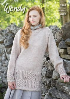 5c069df68cf1 Item Details  Brand Wendy Actual Size - Style Sweaters Type Patterns Pattern  for Women Difficulty Challenging Yarn Thickness Aran