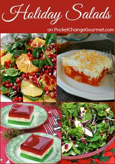 Holiday Salads | Recipes on PocketChangeGourmet.com