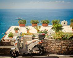 Positano Photography - Amalfi Coast Photography - Mediterranean Sea - Italian Motorbike - Vintage, Rustic, Charming - Italy Photography by AndrewRhodesPhoto on Etsy https://www.etsy.com/listing/159383106/positano-photography-amalfi-coast