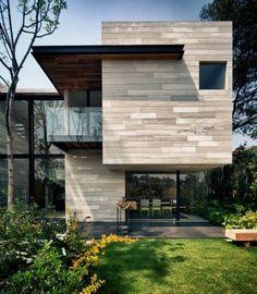 Earthy tones to facade