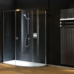 Matki New Radiance Curved Offset Corner Enclosure with Slimline Tray | Shower Enclosures | CP Hart
