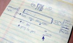 A sketch by Twitter co-founder Jack Dorsey's of the social network he envisioned.
