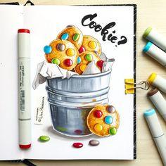 Lisa Krasnova (cha0tica) - Copic Markers Art