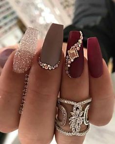 - Nail Art - 39 Birthday Nails Art Design that Make Your Queen Style fascinating coffin acrylic nails; french ombre nails with gold glitter; Matte Nail Art, Cute Acrylic Nails, Acrylic Nail Designs, Gold Nail Art, Birthday Nail Art, Birthday Nail Designs, Birthday Design, Gold Nails, Glitter Nails