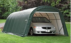 ShelterLogic Round-Style Instant Garage – x x 1 Frame, Gray, Model# 76632 Hiking Tent, Camping And Hiking, Instant Garage, Car Shelter, Rib Boat, Boat Covers, Garden Canopy, Garden Equipment, Pool Supplies