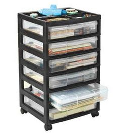 Iris Scrapbooking Cart - drawers large enough to hold 12x12 paper and can be removed completely from the unit.