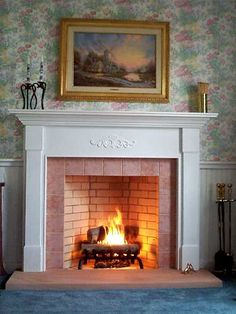 Traditional Rumford fireplace