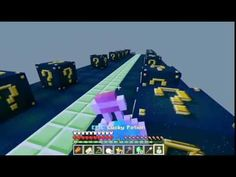[Popularmmos - Minecraft ] ROCKET TO SPACE LUCKY BLOCK RACE - Pat And Je...