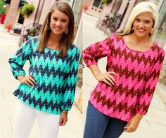 S, M, L.  Available at 105 West Boutique in Abbeville, SC.  (864) 366-WEST.