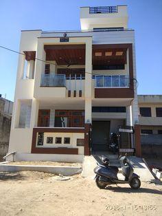 ideas build for real. Bungalow Haus Design, Duplex House Design, Simple House Design, House Front Design, House Design Photos, Modern House Design, 2bhk House Plan, Model House Plan, Indian Home Design