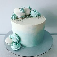 Birthday Drip Cake, Candy Birthday Cakes, Elegant Birthday Cakes, Beautiful Birthday Cakes, Birthday Cake Decorating, Beautiful Cake Designs, Beautiful Cakes, Macaroon Cake, First Communion Cakes
