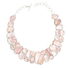 Poppy Jewellery Rose Quartz Statement Designer Gemstone Necklace ($3,190) ❤ liked on Polyvore featuring jewelry, necklaces, gem necklace, gem jewelry, gemstone jewellery, gemstone jewelry and poppy necklace