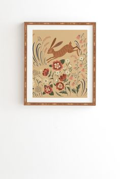 Pimlada Phuapradit brown hare Framed Wall Art | DENY Designs Home Accessories