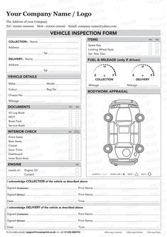 7 Best Images of Printable Vehicle Inspection Checklist - Free ...
