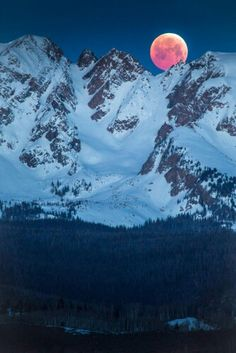 Blood moon over the Rocky Mountains., west of Denver. 4/4/15.