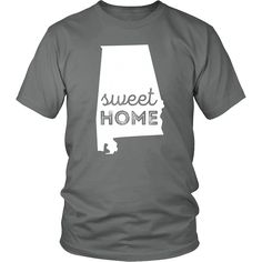 Proud to be from Alabama? Sweet Home Alabama State t-shirt is perfect for you. Show off your Alabama pride with an amazing home state t-shirt!